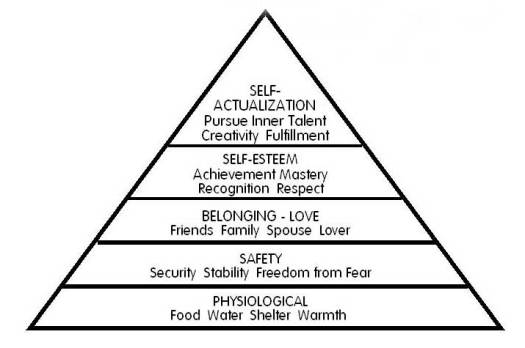 According to Maslow, a person must satisfy the primary needs before moving to the next level of needs.