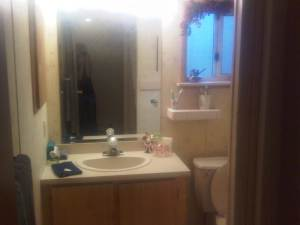 bathroom after 8 hours of cleaning