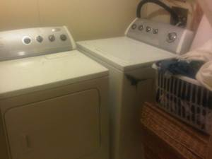 I got a new washer and dryer off of Craig's List that were in great shape