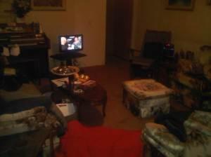 living room cleaned