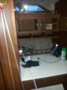 desk area in front bedroom