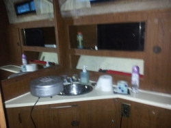 Kinda blurry but a before pic of the main head. Bathroom