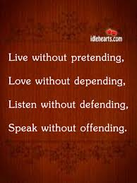 live without rpetending