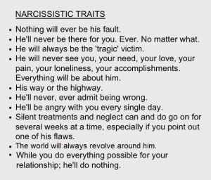 narcissistic traits